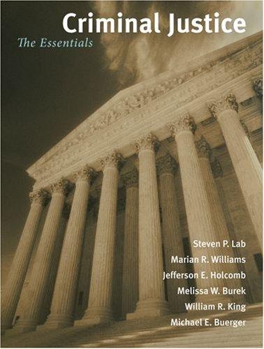 Criminal Justice: The Essentials 9780195332490