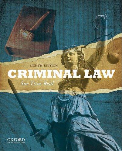 Criminal Law 9780195389036