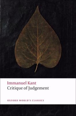 Critique of Judgement 9780199552467
