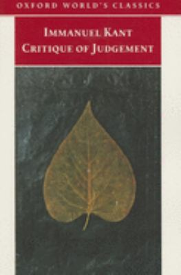 Critique of Judgement 9780192806178