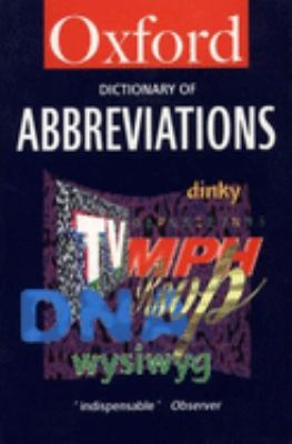 Dictionary of Abbreviations 9780192800732