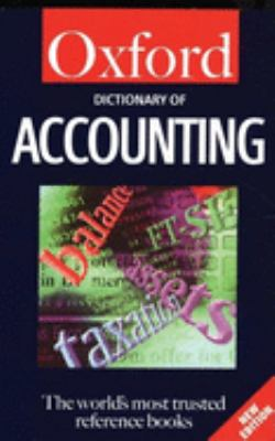 Dictionary of Accounting 9780192800992