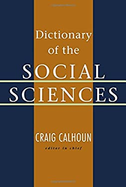 Dictionary of the Social Sciences 9780195123715