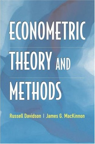 Econometric Theory and Methods 9780195123722