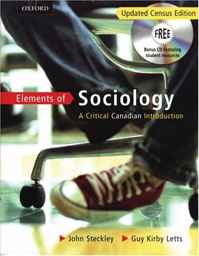 Elements of Sociology: A Critical Canadian Intro 9780195429992