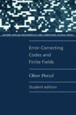 Error-Correcting Codes and Finite Fields 9780192690678