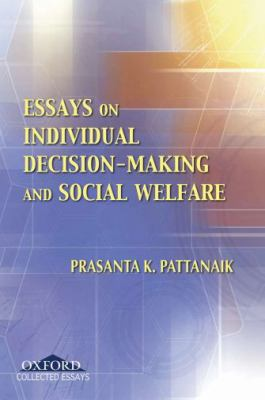 Essays on Individual Decision Making and Social Welfare 9780195695960