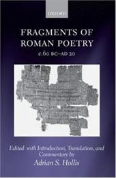 Fragments of Roman Poetry C.60 BC-Ad 20 559949
