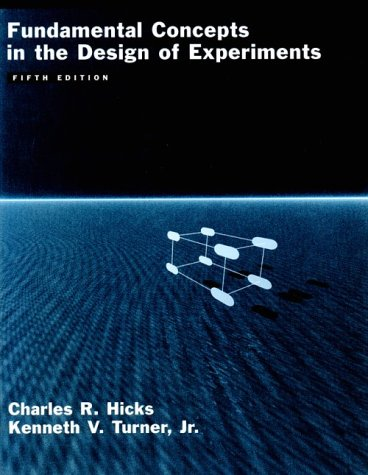 Fundamental Concepts in the Design of Experiments 9780195122732