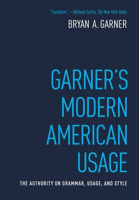 Garner's Modern American Usage 9780195382754