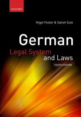German Legal System and Laws 9780199233434