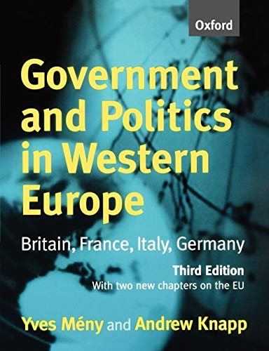 Government and Politics in Western Europe: Britain, France, Italy, Germany 9780198782216