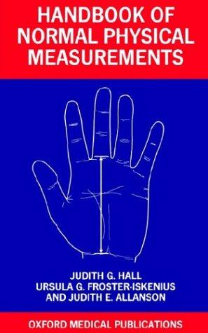 Handbook of Normal Physical Measurements 9780192616968