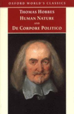 Human Nature & de Corpore Politico 9780192836823