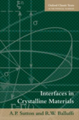 Interfaces in Crystalline Materials 9780199211067