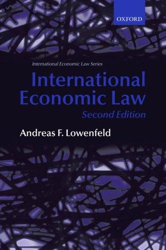 International Economic Law 9780199226948