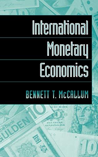 International Monetary Economics 9780195094947
