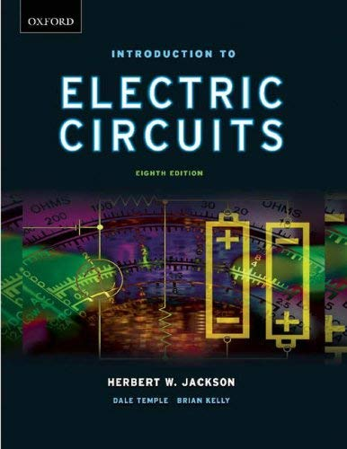 Introduction to Electrical Circuits 9780195423105