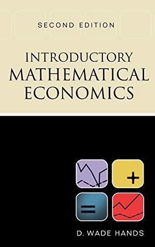 Introductory Mathematical Economics 9780195133783