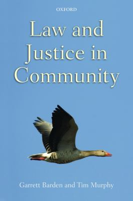 Law and Justice in Community 9780199592685