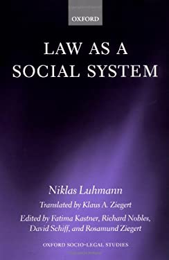 Law as a Social System 9780198262381
