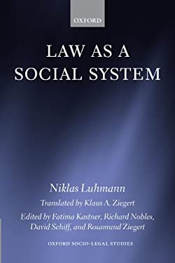 Law as a Social System 9780199546121