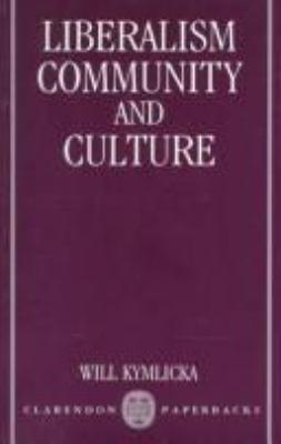 Liberalism, Community, and Culture 9780198275992