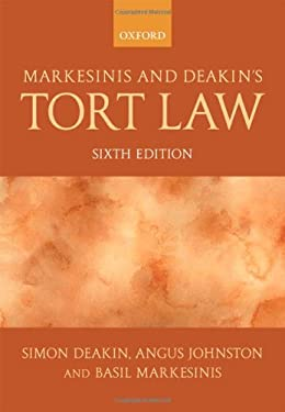 Markesinis and Deakin's Tort Law 9780199282463