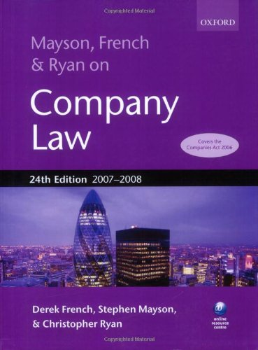 Mayson, French & Ryan on Company Law 9780199210817