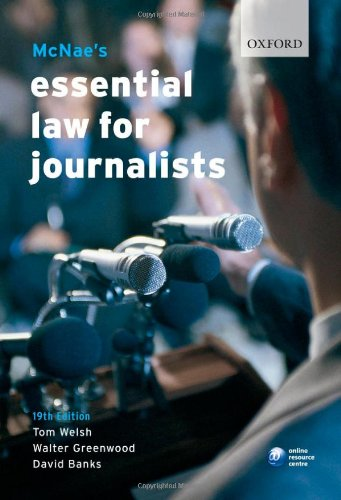 McNae's Essential Law for Journalists 9780199211548
