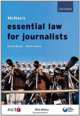 McNae's Essential Law for Journalists 9780199556458