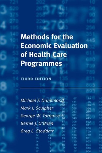 Methods for the Economic Evaluation of Health Care Programmes 9780198529446