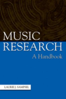Music Research: A Handbook 9780195171198
