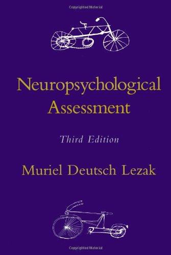 Neuropsychological Assessment 9780195090314