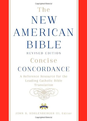 New American Bible revised edition concise concordance 9780199812530