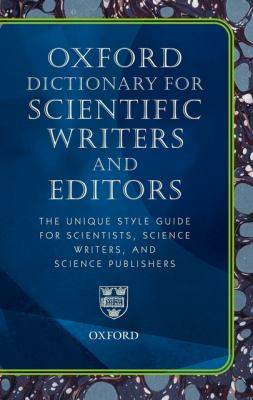 New Oxford Dictionary for Scientific Writers and Editors 9780199545155