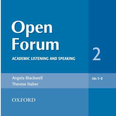 Open Forum 2: Academic Listening and Speaking 9780194361125