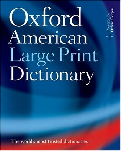 Oxford American Large Print Dictionary 9780195300789