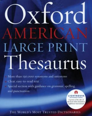Oxford American Large Print Thesaurus 9780195300772