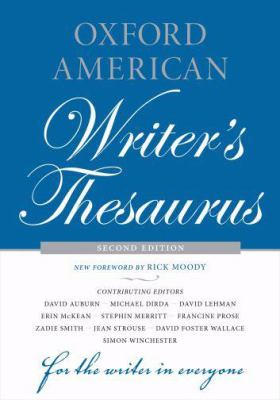 Oxford American Writer's Thesaurus 9780195342840