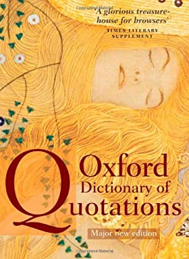 Oxford Dictionary of Quotations 9780199237173