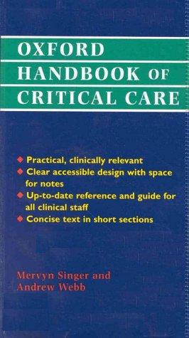 Oxford Handbook of Critical Care 9780192625427