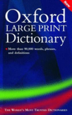 Oxford Large Print Dictionary 9780198606680