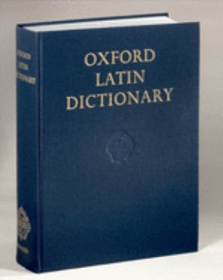 Oxford Latin Dictionary 9780198642244