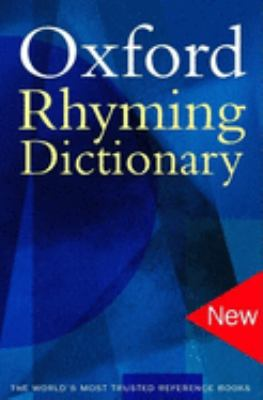 Oxford Rhyming Dictionary 9780192801159