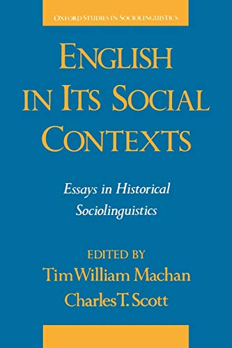 English in Its Social Contexts 9780195065008