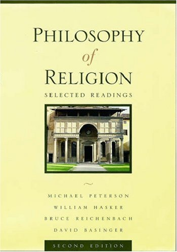 Philosophy of Religion: Selected Readings 9780195135466