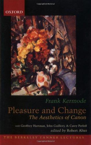 Pleasure and Change: The Aesthetics of Canon 9780195171372