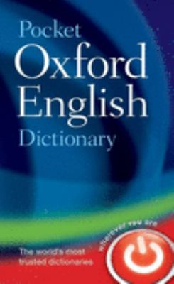 Pocket Oxford English Dictionary 9780198610298