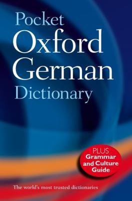 Pocket Oxford German Dictionary 9780199560769